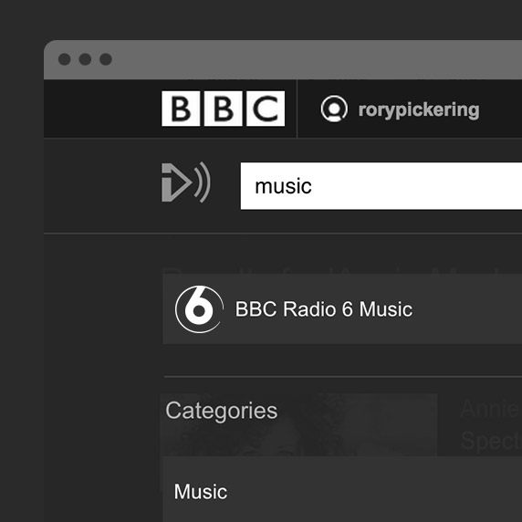 BBC iPlayer Radio search
