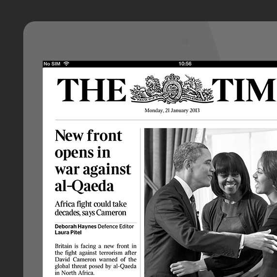 The Times tablet edition
